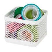 Staples® Small Storage Box, Hanging White Mesh
