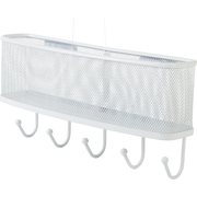 Staples® Mail and Key Rack, Hanging White Mesh