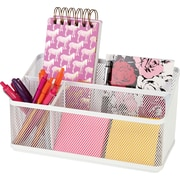Staples® Organizer, Hanging White Mesh