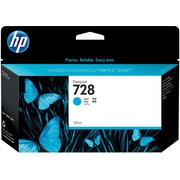 HP 728 130-ml Cyan DesignJet Ink Cartridge (F9J67A)