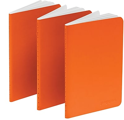 Poppin Orange Mini Notebooks Set of 50