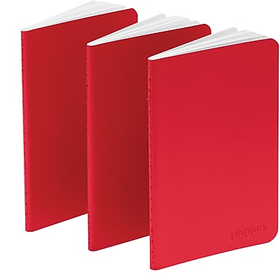 Poppin Red Mini Notebooks Set of 50