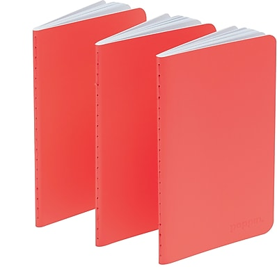 Poppin Coral Mini Notebooks Set of 50