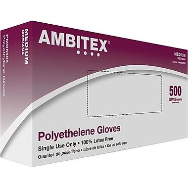 Ambitex Poly Food Service Gloves, Medium, 1.25 ml, 500/Box