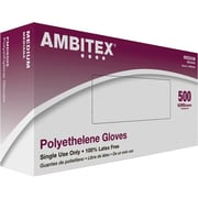 Ambitex Poly Food Service Gloves, Medium, 1.25 ml, 500/Box