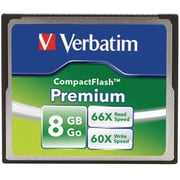 Verbatim® Premium CompactFlash Card, USB, 8 GB (96196)