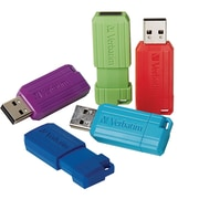 Verbatim 5PK 8GB Pinstripe USB 2.0 Red, Blue, Green, Purple, Teal