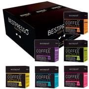 Bestpresso® Compatible Nespresso® Pods, Variety Pack, 120 Capsules per Box (BEST-00VARI-6)
