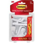 Command™ Utility Hooks Mega Pack, Medium, 20 hooks/24 strips per pack