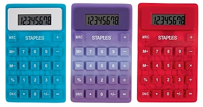 Staples Flexible 8 Digit Display Desk Calculator