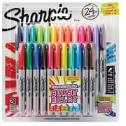 Sharpie® Color Burst Permanent Markers, Fine Point, Assorted Colors, 24/Pack (31993PP)