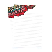 """Erin Condren Large Note Pad, Paisley, 25 Lined Sheets, 6""""x 8.5"""", 2/Pack (1415710)"""