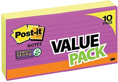 Post-it® Super Sticky Notes, 4 x 4, Canary