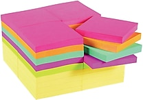 Post-it® Original Notes, 3' x 3', Canary Yellow and Cape Town Collection, 36/Pack
