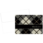 "Great Papers! Black Plaid Thank You Note Card, 4.875"" x 3.375"", 24 count, (2015071)"