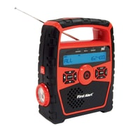 First Alert Portable AM/FM Weather Band Radio with Clock and S.A.M.E. Weather Alert