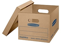 Bankers Box® SmoothMove Classic Moving Box, Small, 15'W x 12'D x 10'H (7714203)