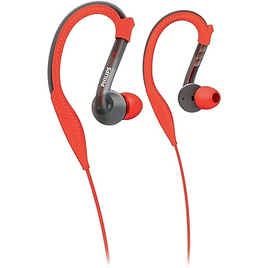 Philips Actionfit Sports Earhook Headphones, Orange/Grey