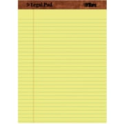 "TOPS™ The Legal Pad™ Legal Pad, 8-1/2"" x 11-3/4,  Yellow, Legal/Wide Rule, 50 Sheets per Pad, 12/Pack (7532)"