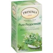 Twinings Pure Peppermint Herbal Tea Bags, 25/BX
