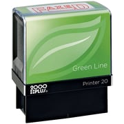 2000PLUS® Green Line Self-inking Stamp, Faxed, Red Ink