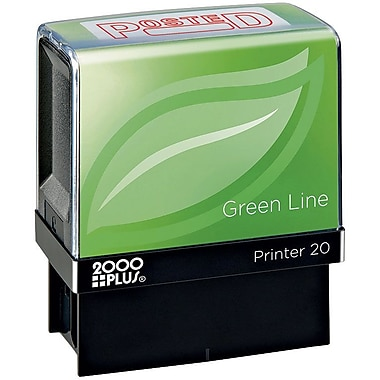 2000PLUS® Green Line Self-inking Stamp, Posted, Red Ink