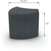 Balt Economy Shapes Upholstered Stool