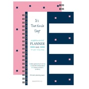 "Kahootie Co™ It's That Kinda Day™ - Daily Planner, 6"" x 9"", Navy Stripe (ITKDNS)"