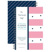 "Kahootie Co™ It's That Kinda Day™ - Daily Planner, 6"" x 9"", Pink Stripe (ITKDPS)"