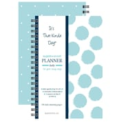 "Kahootie Co™ It's That Kinda Day™ - Daily Planner, 6"" x 9"", Teal Polka Dots (ITKDTPD)"