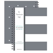 """Kahootie Co™ It's That Kinda Day™- Home & Work Weekly Planner, 9"""" x 11.5"""", Gray Stripe(ITKHWGS)"""