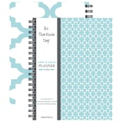 "Kahootie Co™ It's That Kinda Day™- Home & Work Weekly Planner, 9"" x 11.5"", Teal (ITKHWT)"