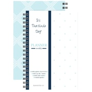 "Kahootie Co™ It's That Kinda Day™- Weekly Planner, 6"" x 9"", Teal and White (ITKWTW)"