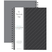 "Kahootie Co™ It's That Kinda Day™- Undated Monthly Calendar, 9"" x 11.5"", Dark Gray Stripe (ITKCDGS)"