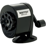 Stanley Bostitch Anitmicrobial Pencil Sharpener, Manual, Black