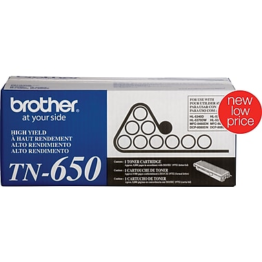 Brother TN-650 Toner Cartridge, Black, High Yield
