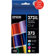 Epson DURABrite Ultra 252XL/252 High Yield, Standard Color C/M/Y Ink Cartridges, Combo 4/Pack (T252XL-BCS)