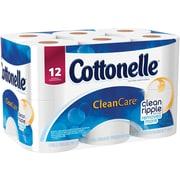 Kleenex® Cottonelle® Gentle Clean Care Bath Tissue, 1-Ply, 12 Rolls/Pack