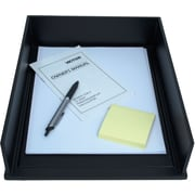 Victor® Wood Midnight Black Stacking Front-Loading Letter Tray (1142-5)
