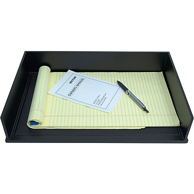 victor wood midnight black stacking legal size letter tray 1168 5