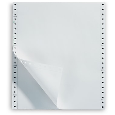 Staples Recycled Blank White Computer Paper, 20lb, 9 1/2
