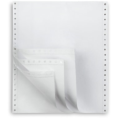 Staples Multi-Part White Computer Paper, 4-Part, 9 1/2