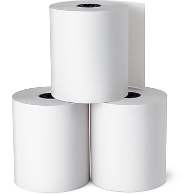 "Staples® Thermal Rolls, 3-1/8"" x 230', 10 Rolls/Pack, BPA Free"