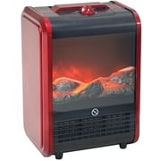 Howard Berger Comfort Zone Mini Ceramic Fireplace Heater, Red (CZFP1)