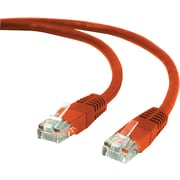 Staples 7' CAT 5e Ethernet Networking Cable, Red