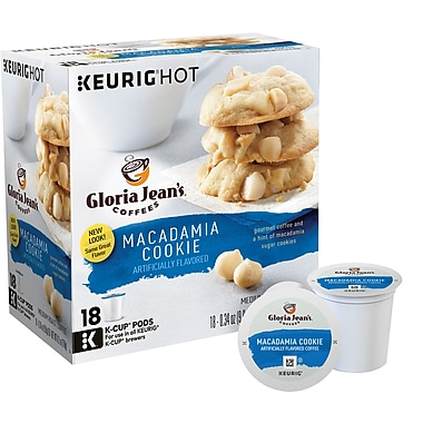 Gloria Jean's® Macadamia Nut Cookie, Regular Keurig® K-Cup® Pods, 18 Count