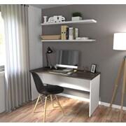 Innova Executive Desk in White and Antigua