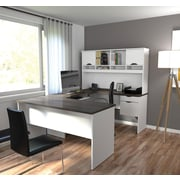 Innova U-shaped desk in White and Antigua