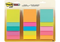 3M™ Post-it® 3' x 3' Miami Super Sticky Note, Assorted (654-15SSMULTI2)