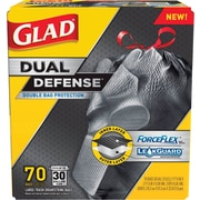 Glad® ForceFlex™ Stretchable Trash Bags, 30 Gallon, 70 Bags/Box